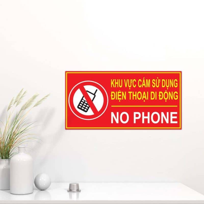 bảng mica cấm sử dụng điện thoại