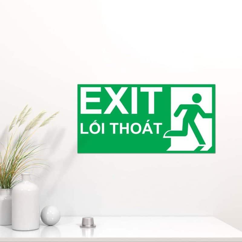 bảng exit chỉ dẫn lối thoát hiểm