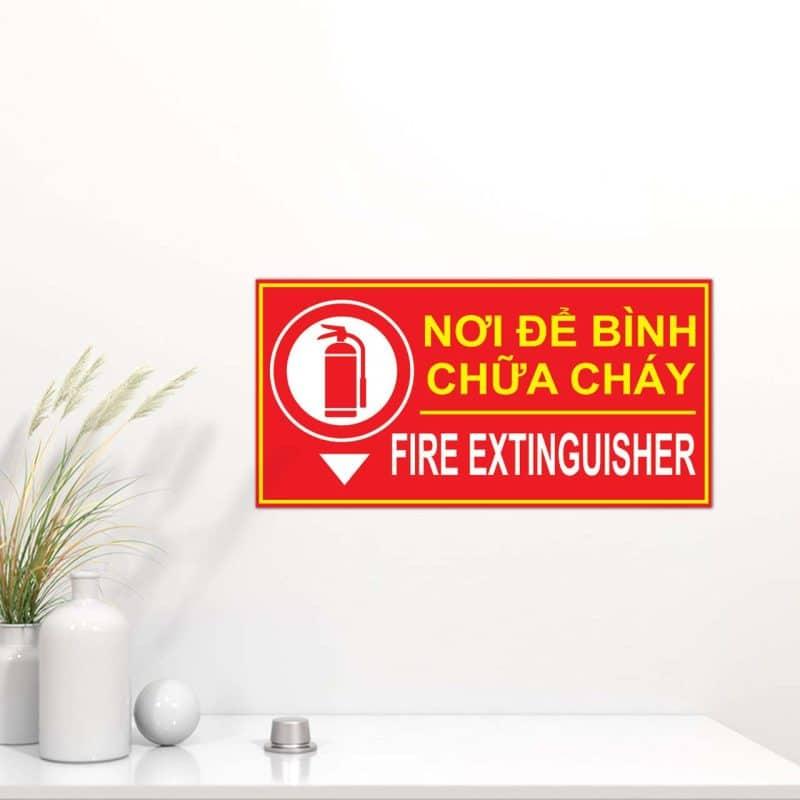 bảng mica vị trí nơi để bình chữa cháy