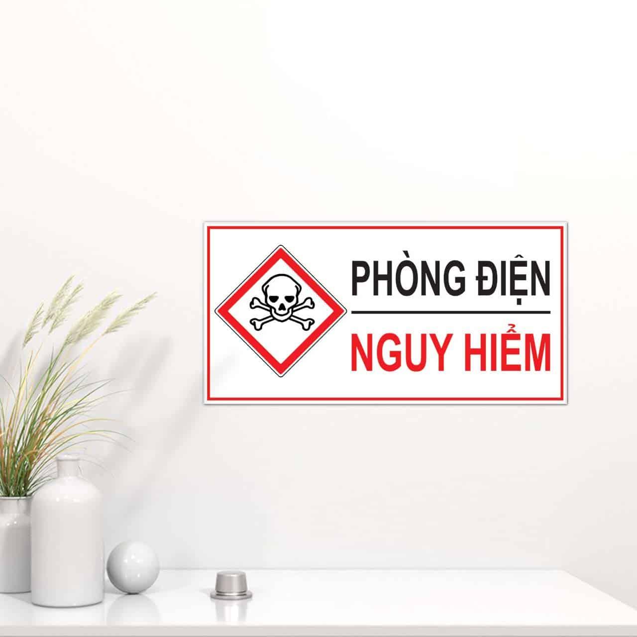 Nội quy an toàn điện cảnh báo phòng điện nguy hiểm
