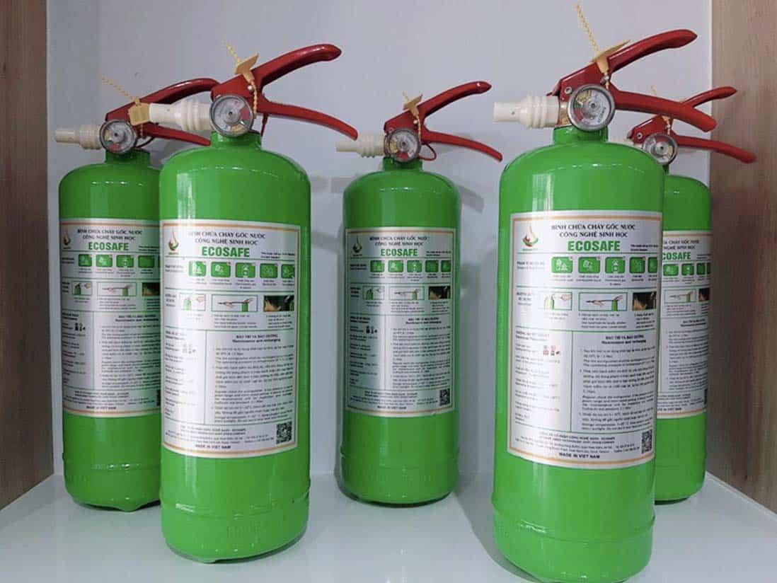 Vì sao bình chữa cháy ecosafe có màu xanh?