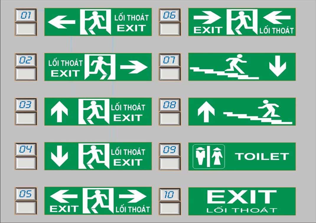 Đèn thoát hiểm ứng dụng ở đâu
