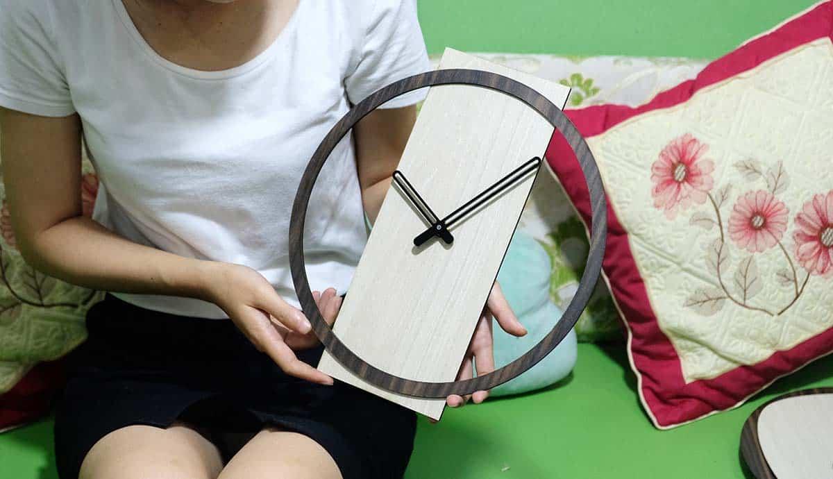 Đồng hồ treo tường tối giản phong cách hàn quốc