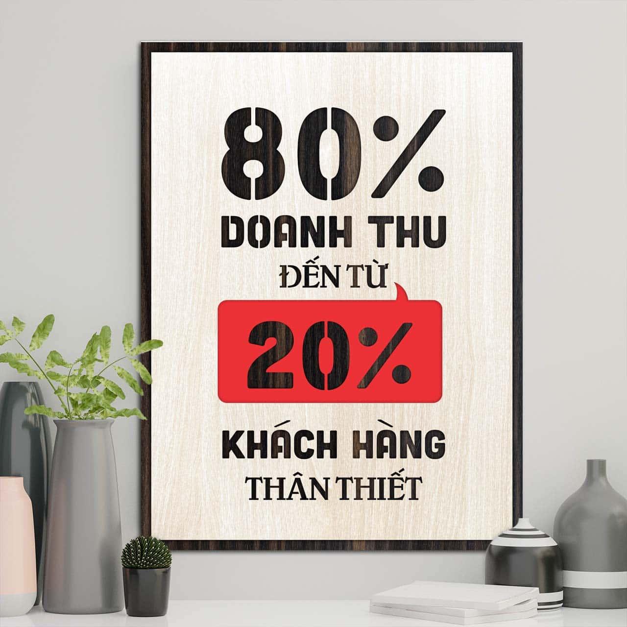 80% doanh thu đến từ 20% khách hàng thân thiết